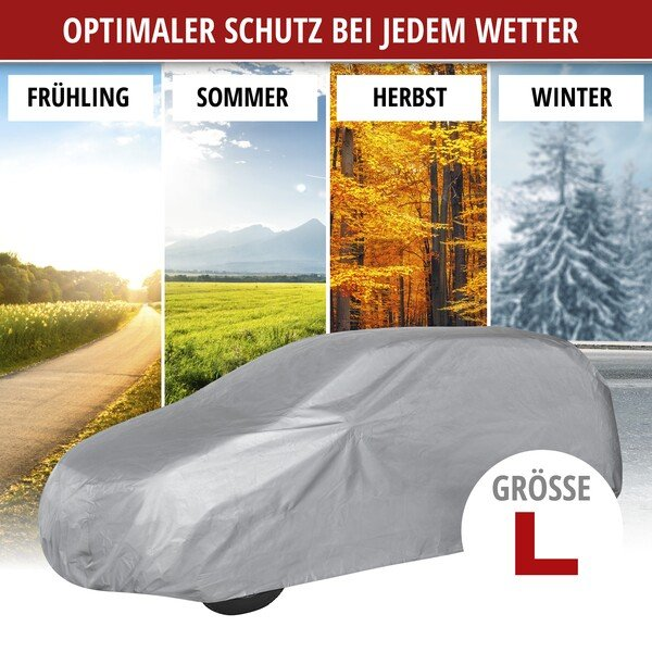 Autoplane Abdeckplane All Weather Light SUV Vollgarage Größe L hellgrau