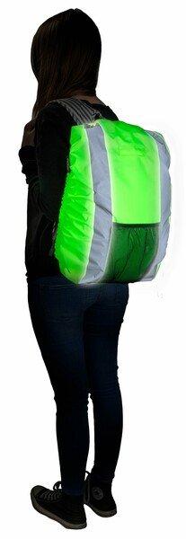 Couverture réfléchissante pour sac à dos vert 30L