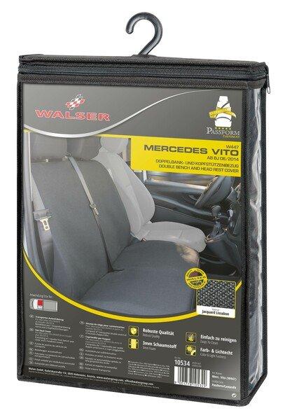 Autositzbezüge für Mercedes-Benz Vito 447 Doppelbank vorne aus Stoff ab Baujahr 06/2014 - heute