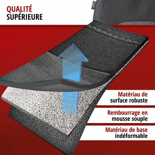 ZIPP IT Premium Housse de sièges Ellington complet avec système de fermeture éclair noir/gris