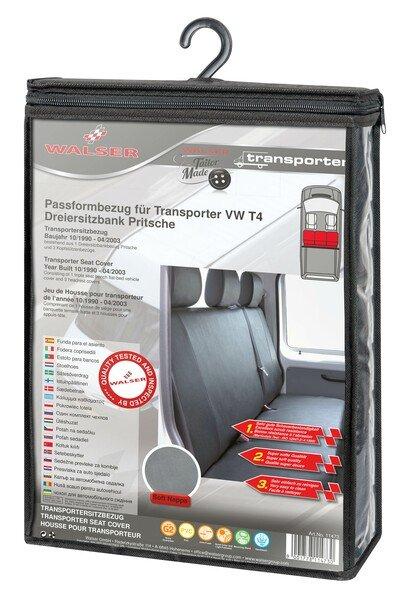 Autoschonbezug Transporter aus Kunstleder für VW T4, 3er Bank Pritsche
