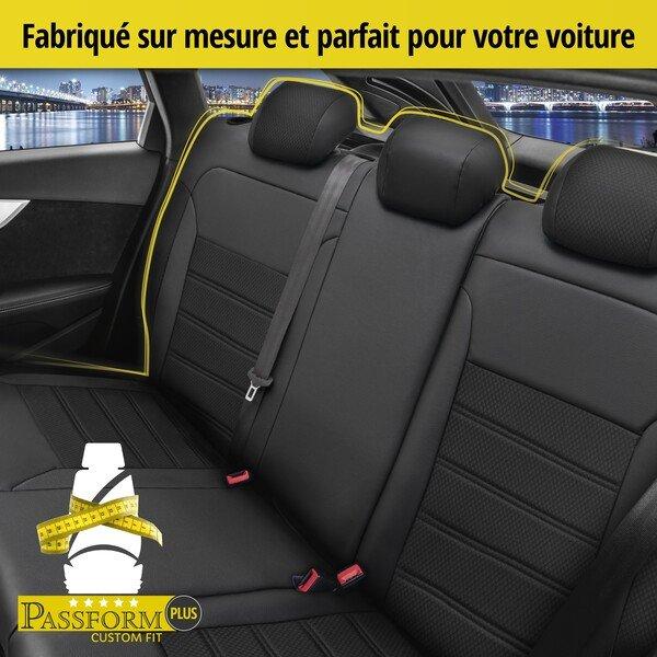 Housse de siège Aversa pour Skoda Rapid année 07/2012 - 12/2019, 1 housse de siège arrière pour les sièges normaux