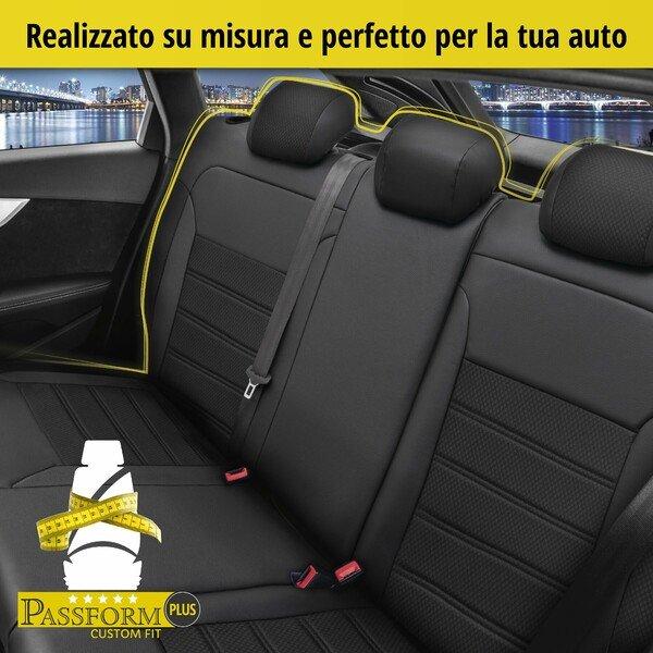 Coprisedile 'Aversa' per Audi A4 modello anno 2015 fino ad oggi - 1 coprisedile posteriore per sedili normali