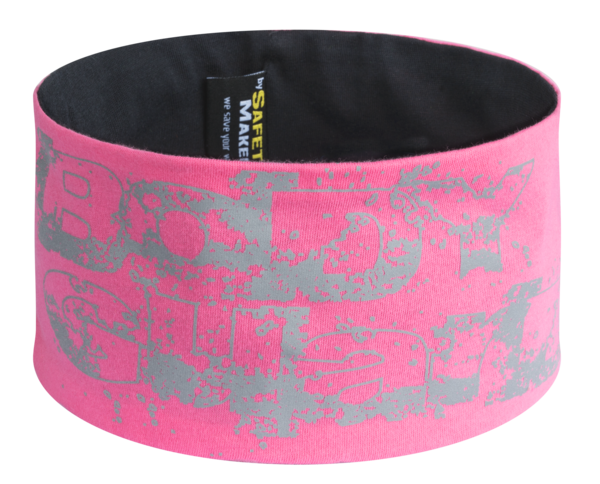 Reversible headband pink-silver