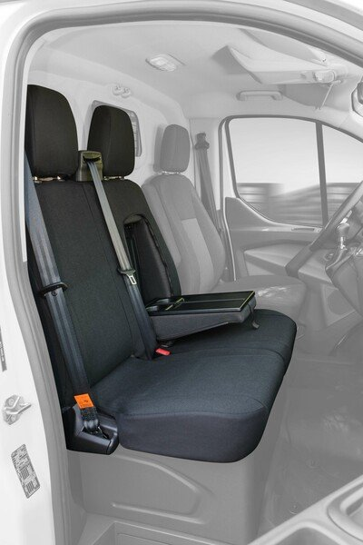 Car Seat covers for Ford Transit double bench in front made of fabric from year of construction 05/2014 - today