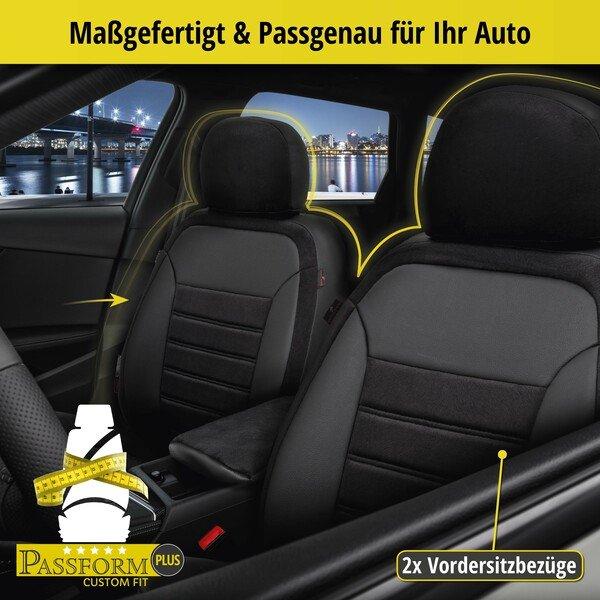 Passform Sitzbezug Bari für Dacia Sandero II 10/2012-Heute, 2 Einzelsitzbezüge für Normalsitze