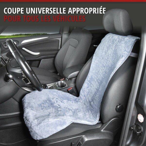 Housses de sièges en agneau Vogue gris 16-18mm hauteur de fourrure
