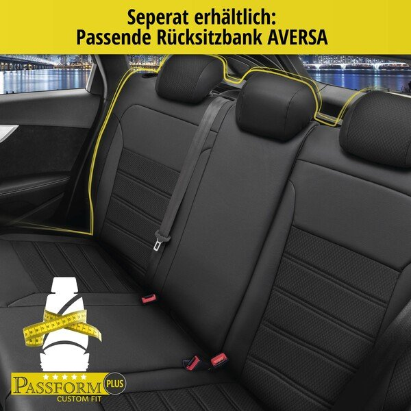 Housse de siège Aversa pour Opel Astra J (P10) année 09/2009-10/2015, 2 housses de siège pour sièges sport