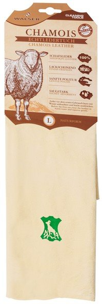 Chamois cloth beige, 68 x 45 cm natural form
