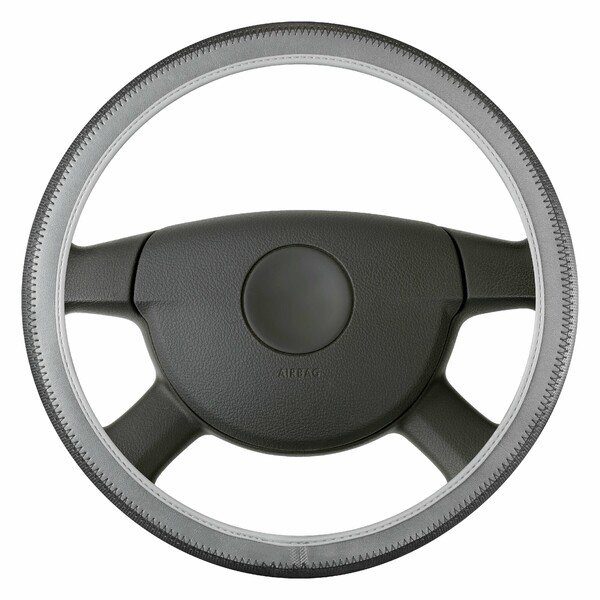 Steering wheel cover Soft Grip Styler - 38 cm black-grey