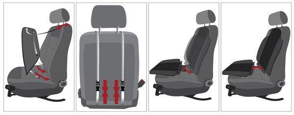 PKW Sitzauflage Aero-Spacer anthrazit