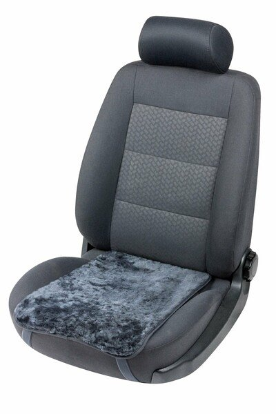 Autositz Lammfell Auflage Molly anthrazit 12-14 mm Fellhöhe