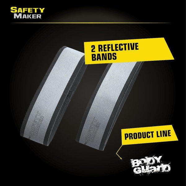 reflector band in silver / black - 1 pair