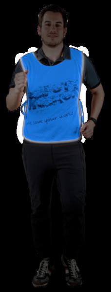 Reflektierende Freizeitweste L/XL blau