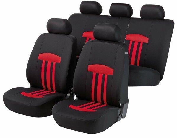 ZIPP-IT Basic Kent - housses de siège auto rouges avec système de fermeture éclair