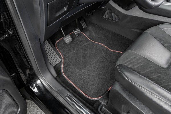 Tapis de voiture The Race noir / rouge