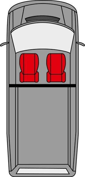 Autositzbezüge für VW Caddy Einzelsitz vorne aus Stoff ab Baujahr 02/2004 - heute