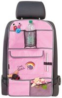 Car seat children organizer back seat bag Cool Girl pink