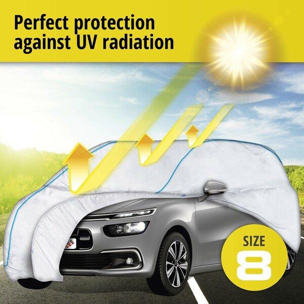Car tarpaulin Sun Reflect size 8 silver