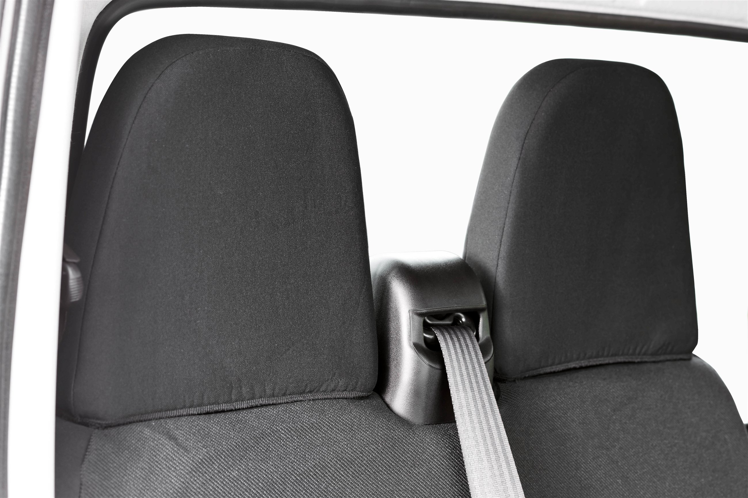 Charcoal Black Leatherette Trim To Fit A Iveco Daily 2006 Van 1 Single + 1 Double Seat Covers