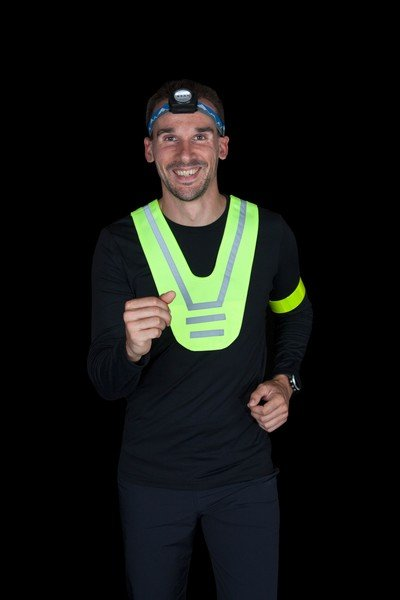 Safety vest for children in neon yellow