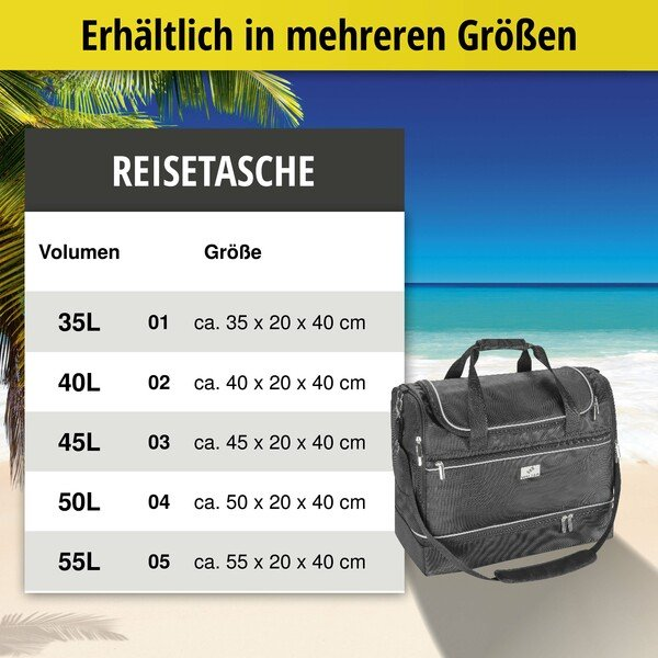 Carbags Reisetasche 45x20x40cm schwarz