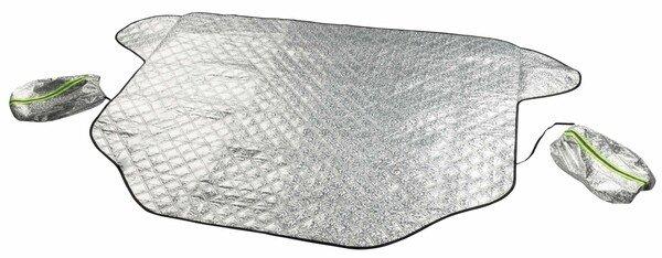 Protection thermique de pare-brise Premium avec couverture de rétroviseur latéral 157x126 cm