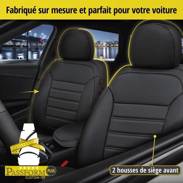 Housse de siège Robusto pour Dacia Sandero II année 10/2010-aujourd'hui, 2 housses de siège pour sièges normaux