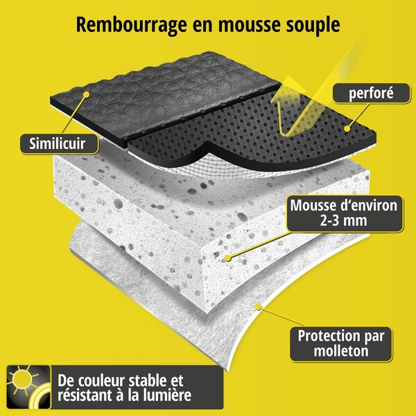 Housse de siège Robusto pour Skoda Roomster (5J) année 03/2006-05/2015, 1 housse de siège arrière pour les sièges normaux