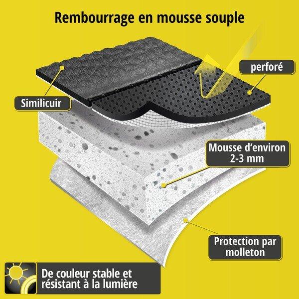 Housse de siège 'Robusto' pour siège Leon année 2013 à aujourd'hui - 1 Housse de siège arrière pour les sièges normaux