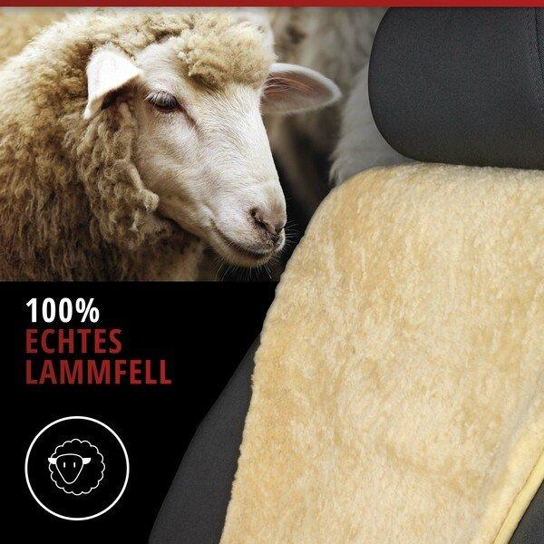 PKW Sitzauflage aus Lammfell Vogue beige 16-18mm Fellhöhe