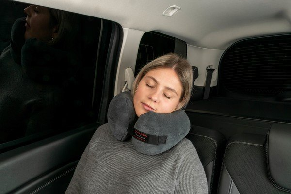 Oreiller de voyage Travelmaid bolster pour adultes en molleton doux anthracite