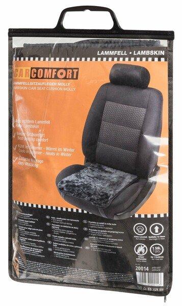Autositz Lammfell Auflage Moll anthrazit 12-14 mm Fellhöhe