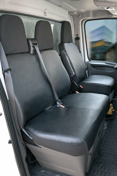 Car Seat cover Transporter made of imitation leather for Citroen Jumper, single & double seat
