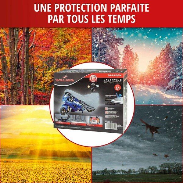 Garage pour motos Taille sport M PVC - 215 x 95 x 120 cm gris