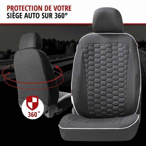 ZIPP IT Premium Housse de sièges Kendal pour deux sièges avant avec système de fermeture éclair noir/blanc