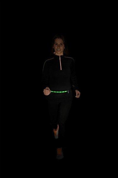 Pochette de ceinture LED noir vert