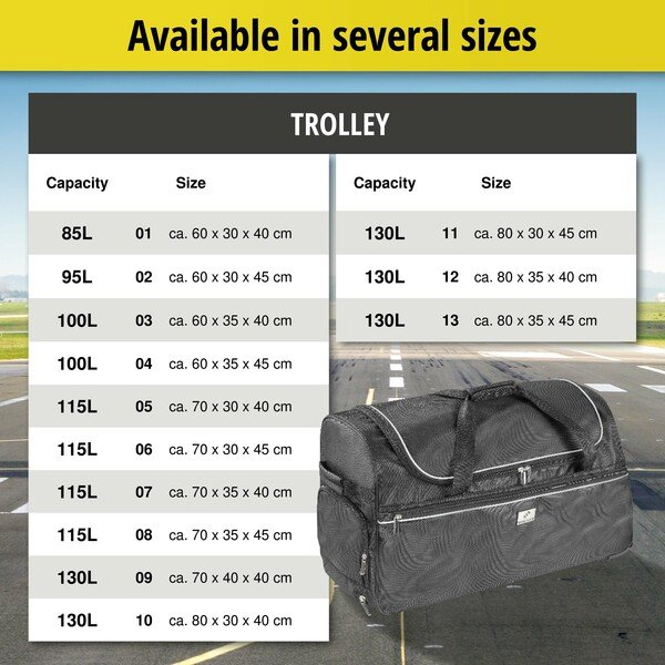 Carbags Trolley 60x30x40cm black