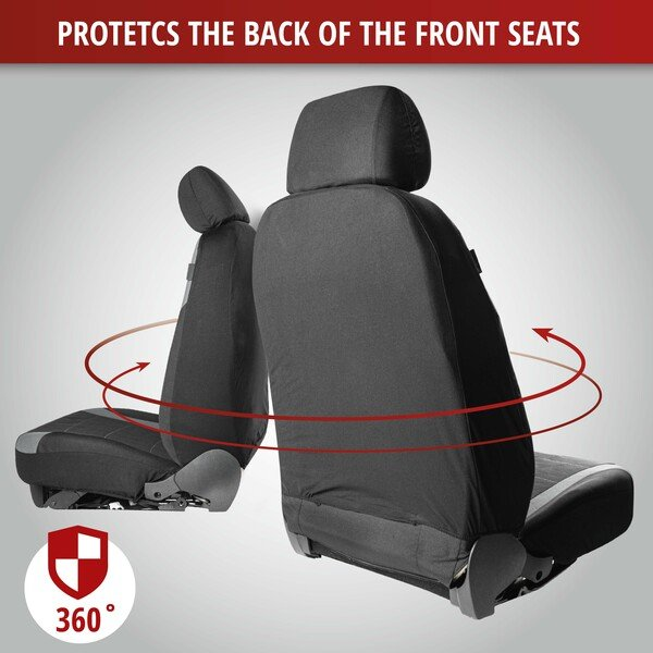 ZIPP IT Premium Inde Car Seat covers for two front seats with zipper system