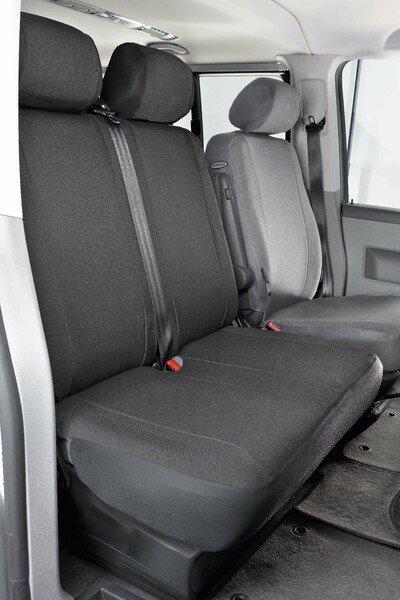 Autositzbezüge für VW T4 Doppelbank vorne aus Stoff für Baujahr 10/1998 - 03/2003
