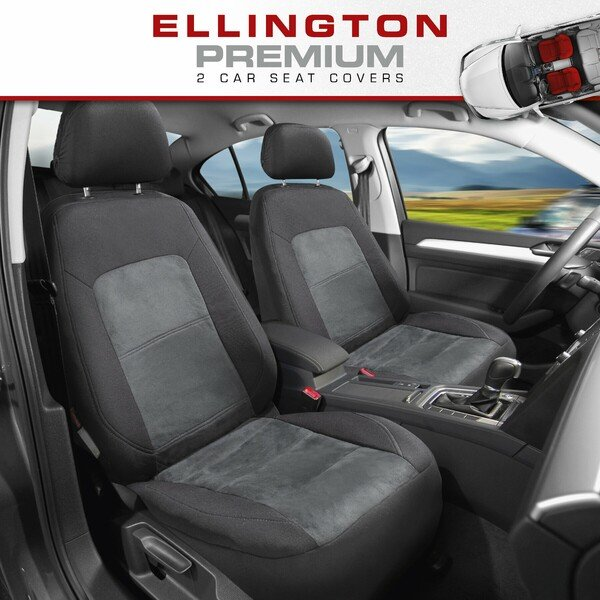ZIPP IT Premium Car seat covers Ellington for two front seats with zip-system black/grey