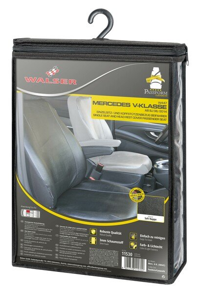 Car Seat cover Transporter made of imitation leather for Mercedes-Benz V-Class 477, single seat passenger armrest inside