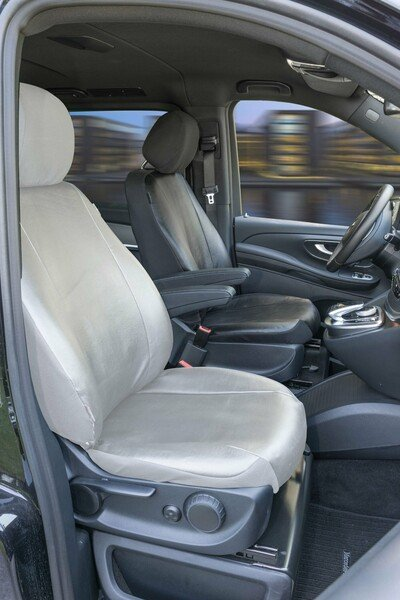 Imitation leather Seat cover for Mercedes-Benz V-Class 477 (driver) incl. armrest inside year of contruction from 06/2014