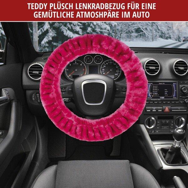 Housse de volant Teddy Peluche rose