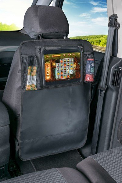 Car seat tablet holder with organizer Kenny black