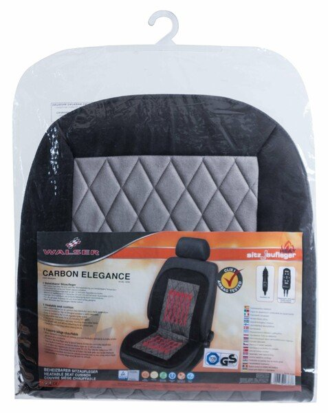 Heating Pad, Seat Heating Car Seat Carbon Elegance black-grey