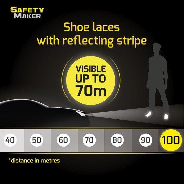 Reflective laces black