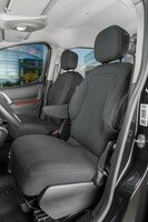 Car Seat covers for Citroen Berlingo 2 single seats in front made of fabric from year of construction 05/2008 - 05/2018