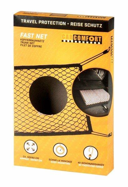 Kofferraumnetz Fast Net 50x80cm, mit Haken schwarz