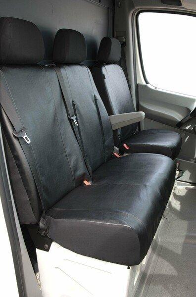 Housses de sièges pour VW Crafter et Mercedes-Benz Sprinter siège simple et double banc en cuir synthétique souple